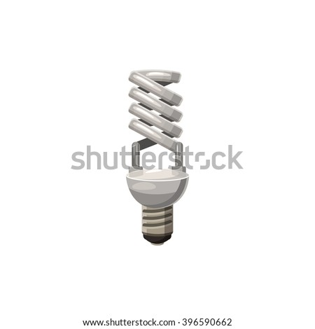 Efficient powersaving bulb icon, cartoon style - stock vector
