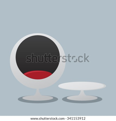 egg chairs - stock vector
