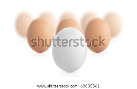 Egg concept vector illustration isolated on white background - stock vector