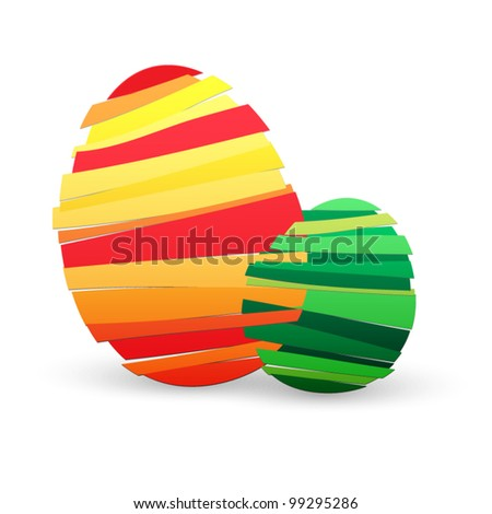 Eggs background - stock vector