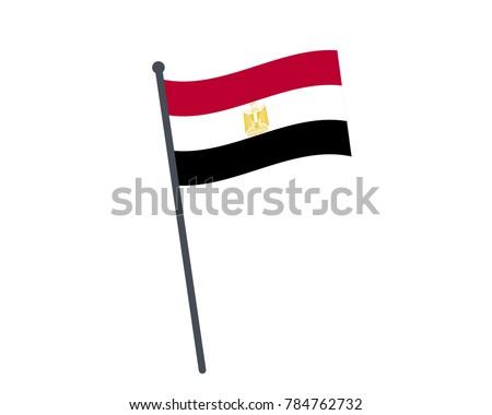 Egypt Flag National Flag Egypt On Stock Vector 784762732 Shutterstock