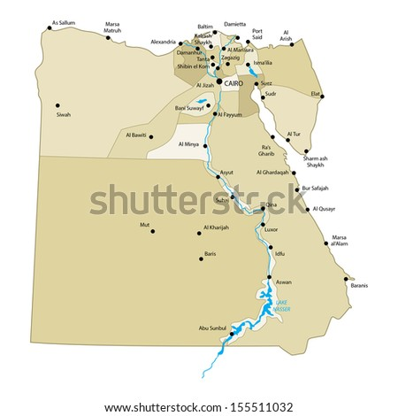 Egypt Map Stock Images RoyaltyFree Images Vectors Shutterstock - Map of egypt vector free