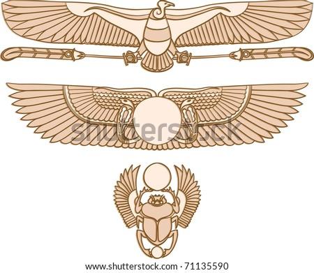 Egyptian Symbols Stock Vector 2018 71135590 Shutterstock