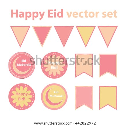 Must see Eid Mubarak Eid Al-Fitr Decorations - stock-vector-eid-al-fitr-or-eid-al-adha-decoration-vector-set-for-muslim-holidays-islamic-party-paper-decor-442822972  Pic_695399 .jpg