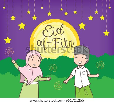 Amazing Daughter Eid Al-Fitr Greeting - stock-vector-eid-al-fitr-with-fireworks-651721255  HD_315882 .jpg