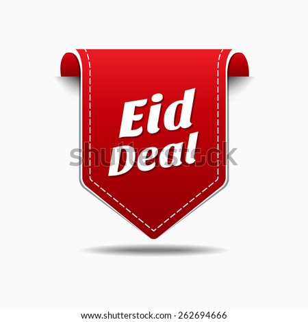 Eid Deal Red Vector Icon Design