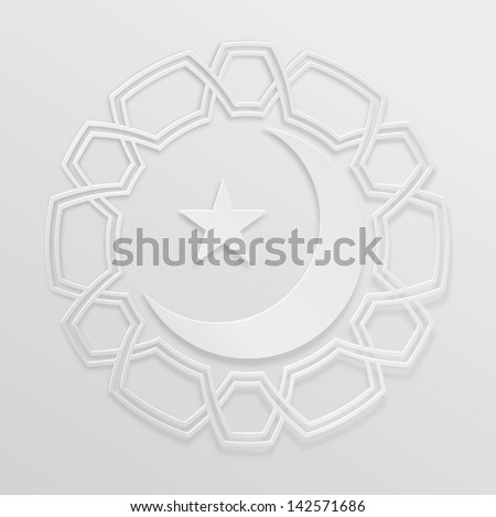 Eid moon graphic - stock vector