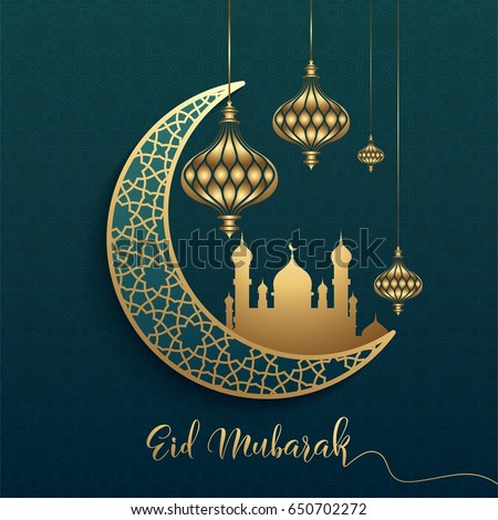 Eid mubarak design background vector illustration stock vector eid mubarak design background vector illustration for greeting card poster and banner m4hsunfo