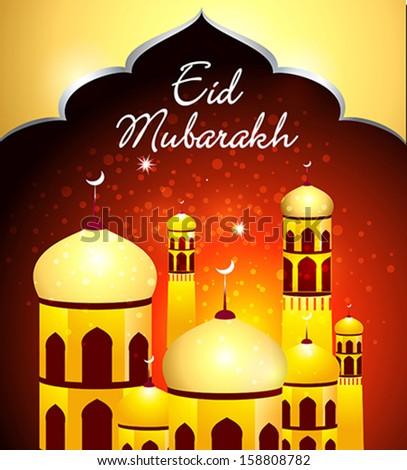 Eid Mubarakh Background vector illustration  - stock vector