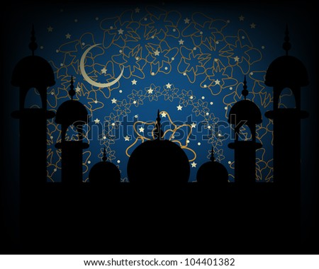 Eid Religious Background. Jpeg Version Also Available In Gallery. - stock vector