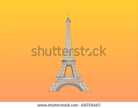 eiffel tower ( background on separate layer ) - stock vector