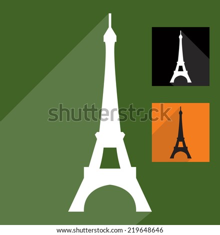 Eiffel Tower icon - stock vector