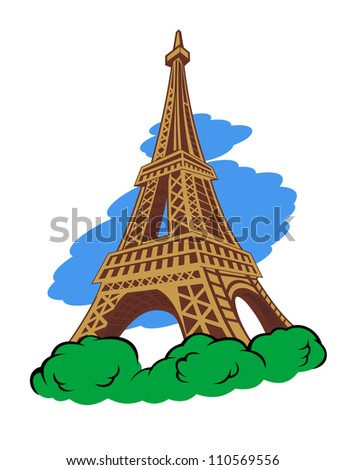 Eiffel tower in Paris for travel design. Jpeg version also available in gallery - stock vector