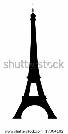 Eiffel tower in Paris isolated vector illustration