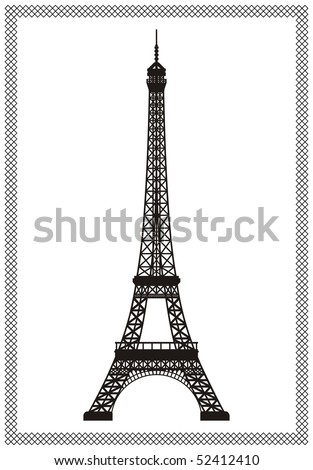 Eiffel tower in Paris isolated vector illustration, it is easy to edit and change. - stock vector