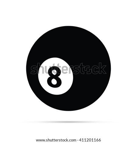 Eight Ball Icon - stock vector