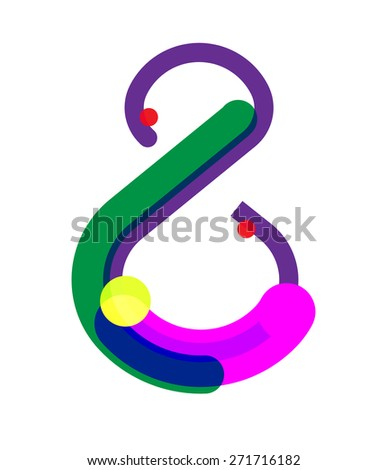 Eight Number Symbol. Vector Illustration - stock vector