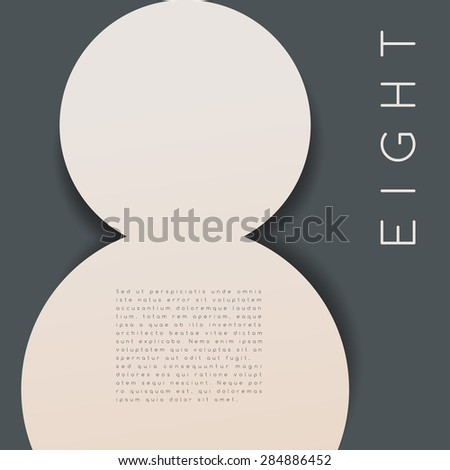 Eight : Numeral Graphic in Overlapping Element : Vector Illustration - stock vector