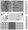 Eight seamless vector patterns for backgrounds, fills and overlays. - stock photo