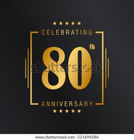 Eighty Anniversary Celebration Logotype 80th Anniversary ...