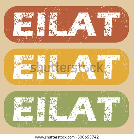 Eilat on colored background