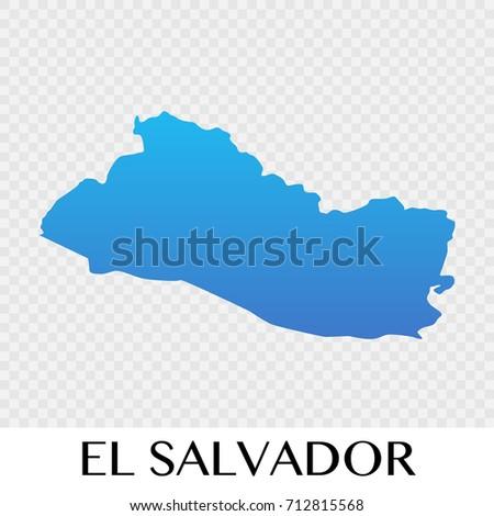 El Salvador Map North America Continent Stock Vector - North america map el salvador