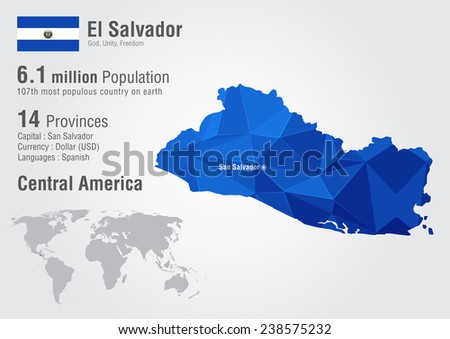 El salvador world map pixel diamond stock vector 238575232 el salvador world map with a pixel diamond texture world geography gumiabroncs Image collections