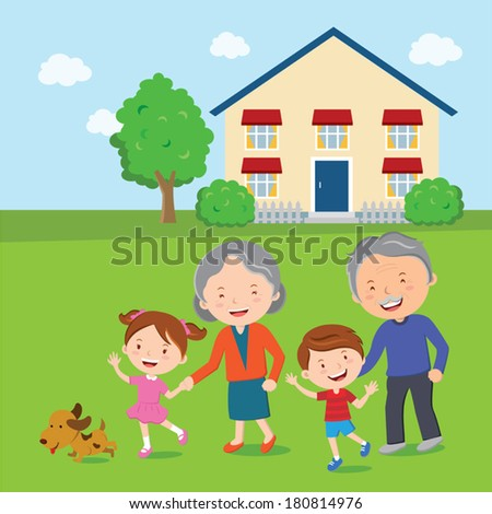 family and grandparents house If your grandparents are working on a large project (like painting or house  training the dog)  consider drawing a family tree and make it with your  grandparents.