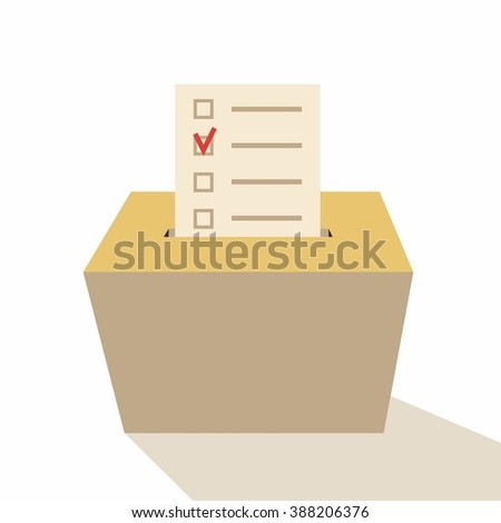 Election 2016 box Voting Symbols vector design, with shadow - stock vector