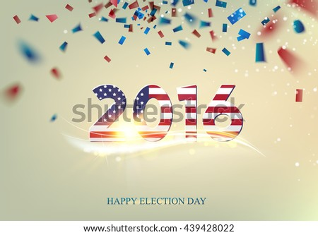 Election day sign. - stock vector