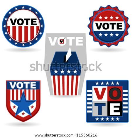 Election Emblem - stock vector