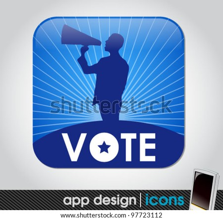 election vote app for mobile devices - stock vector