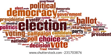 Election word cloud concept. Vector illustration - stock vector
