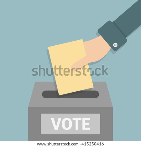 Elections - conceptual illustration. Election day - stock vector