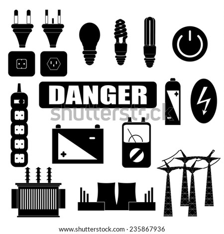 Electric black and white - stock vector