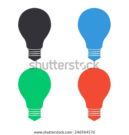 electric bulb icon - colored vector illustration - stock vector