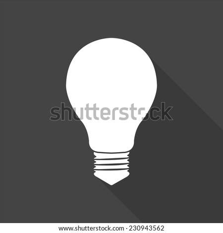 electric bulb icon - vector illustration with long shadow isolated on gray  - stock vector