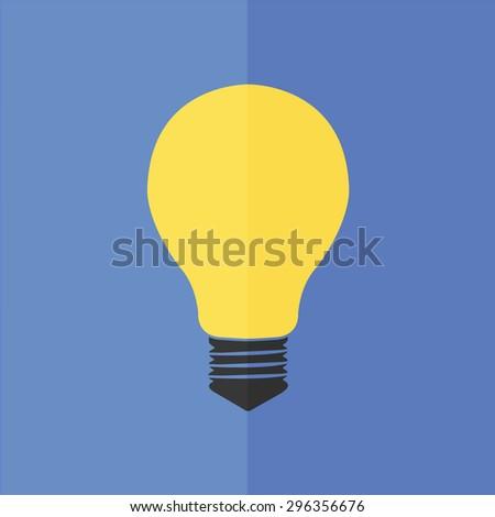electric bulb vector icon. Flat design - stock vector