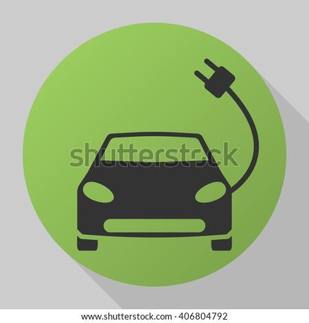 Electric car. Electric car icon. Electric car icon vector. Electric car icon web. Electric car icon art. Electric car icon new. Electric car icon best. Electric car icon shape. Electric car icon image - stock vector