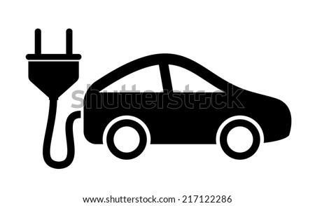 Electric car icon - stock vector