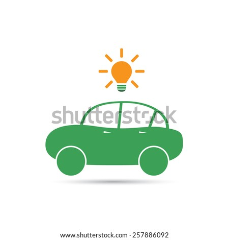 Electric Car Icon Design - stock vector