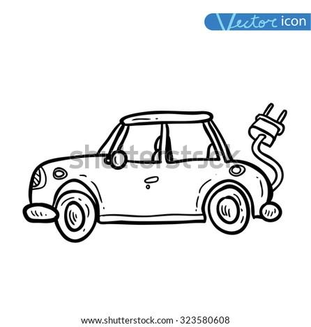 Electric Car Vector Stock Vector Shutterstock