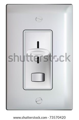 Electric dimmer switch -realistic vector - stock vector