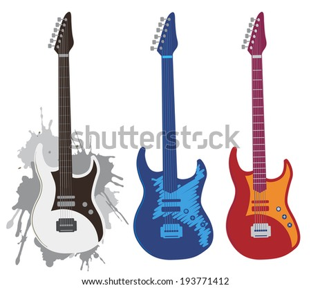Electric guitars.