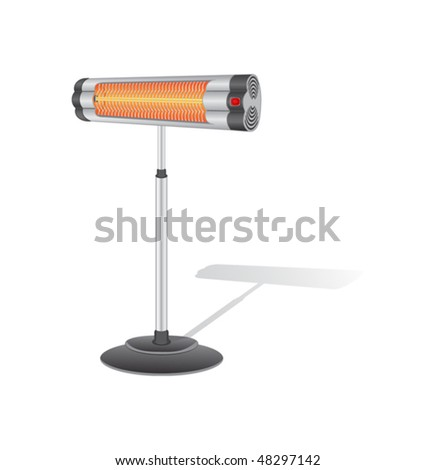 Electric Heater - stock vector