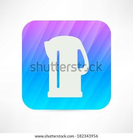 electric kettle icon - stock vector