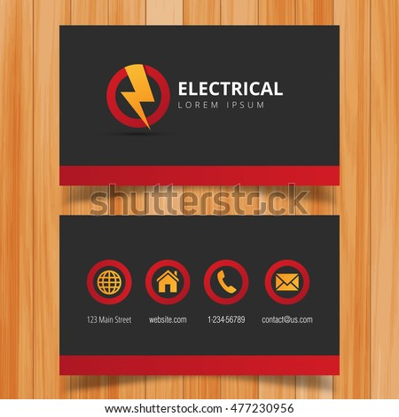 Electrician Business Card Stock Images RoyaltyFree Images - Electrician business cards templates free
