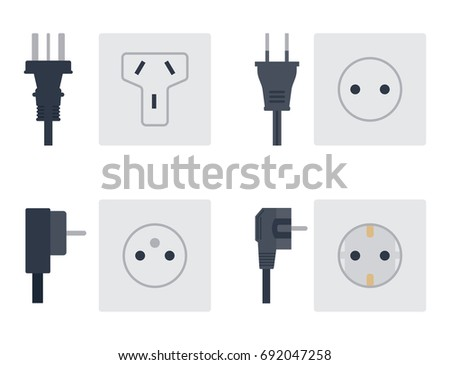 Electric Outlet Vector Illustration Energy Socket Stock Photo (Photo ...