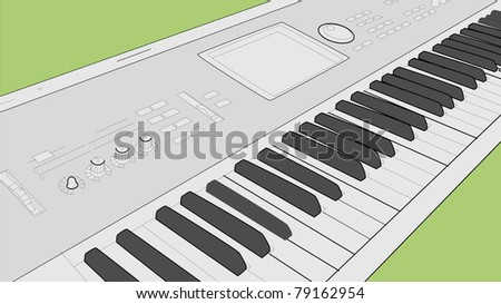 electric piano - stock vector