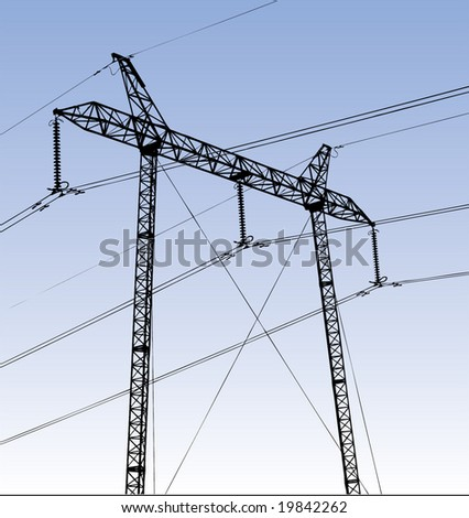 Electric plant illustration vector - stock vector